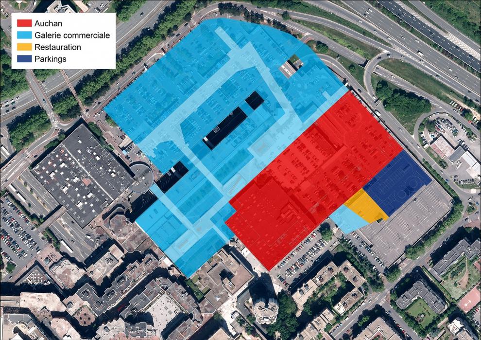 Futur plan du Centre commercial des 3 Fontaines