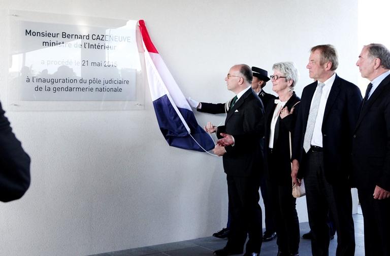 Inauguration pôle judiciaire gendarmerie nationale bernard cazeneuve