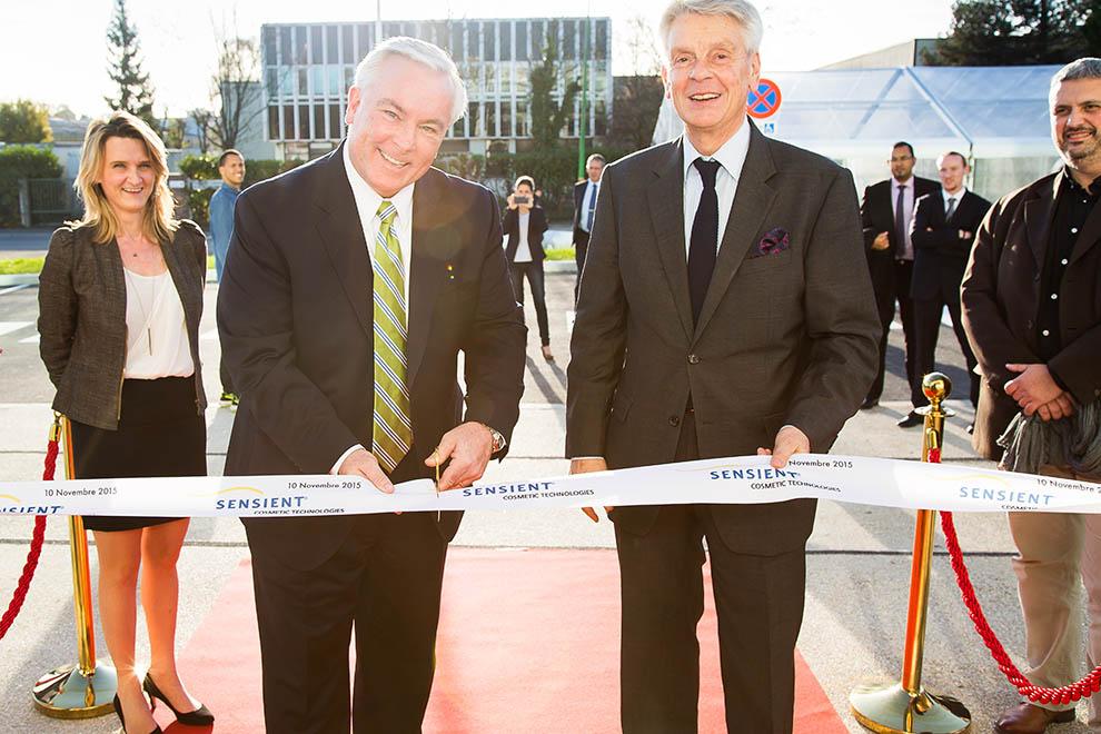 Inauguration du nouveau bâtiment de Sensient le 10 novembre 2015
