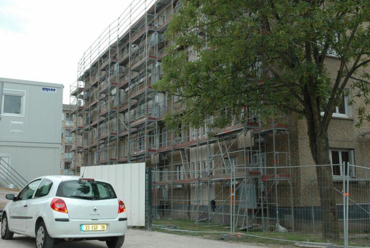 Démolition d'une barre avenue de Verdun