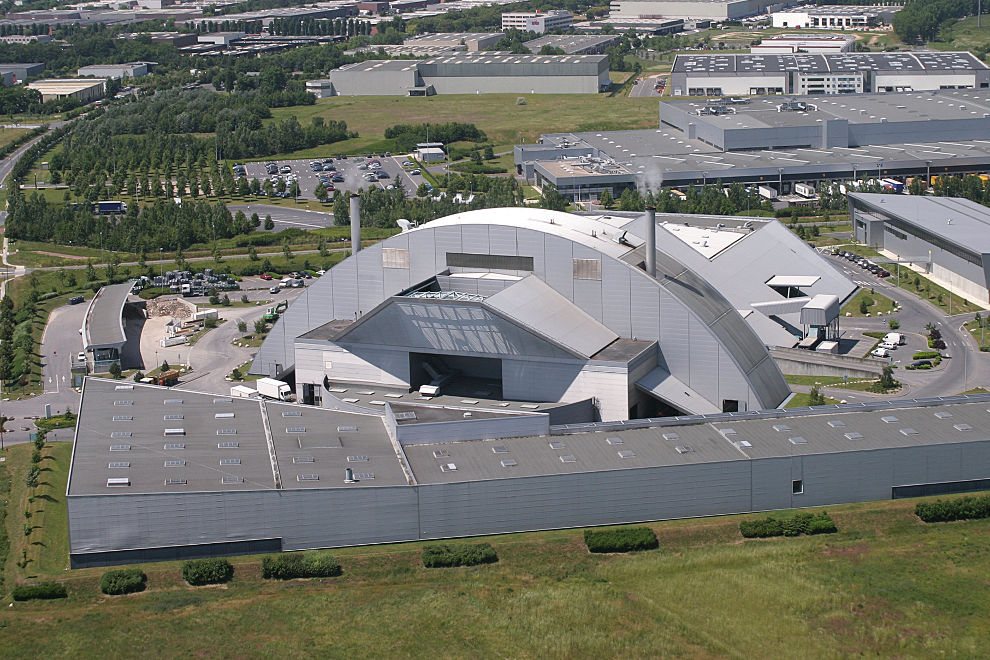 Le centre de traitement et de valorisation des déchets de Cergy-Pontoise à Saint-Ouen l'Aumône
