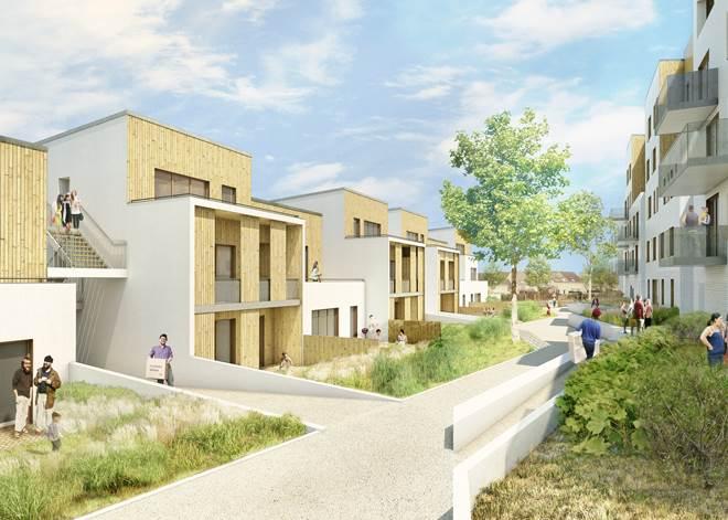 Les logements du quartier Bellefontaine à Jouy-le-Moutier