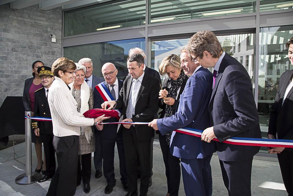 Inauguration de la Maison internationale de la recherche de l'Université de Cergy-Pontoise avec Thierry Mandon, Valérie Pécresse et Dominique Lefebvre