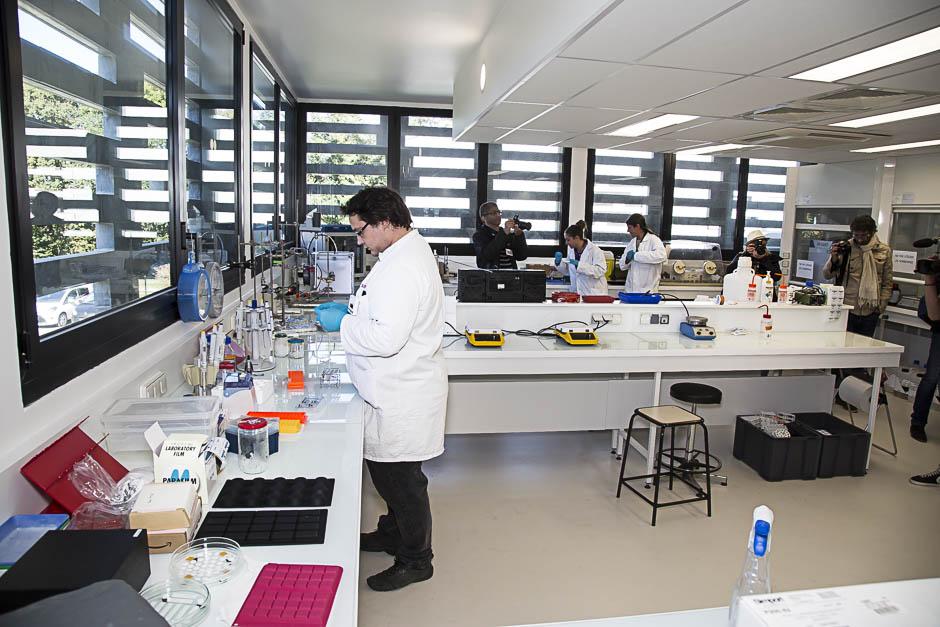 Les locaux du laboratoire ERRMECE au sien de la Maison internationale de la recherche de l'Université de Cergy-Pontoise