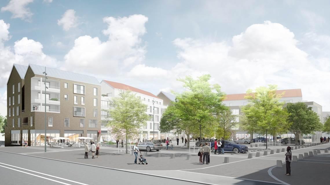 Le future place du Bien-Etre à Jouy-le-Moutier