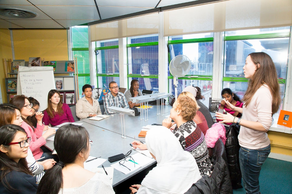 Atelier de français à la BEI © CACP