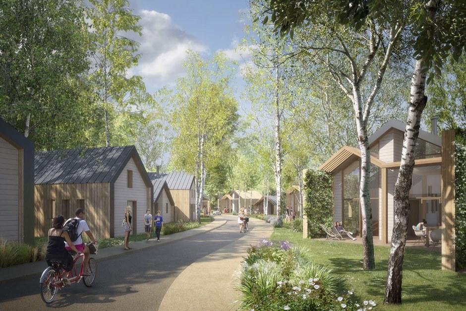 le projet pour l'ancien site de Mirapolis à Cergy-Pontoise
