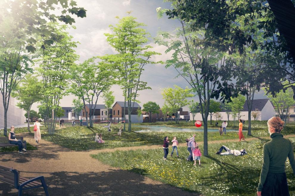 Le futur éco-quartier du Bois d'Aton à Courdimanche