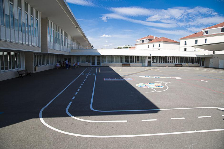 Le groupe scolaire Gustave Loiseaux du quartier Bossut à Cergy-Pontoise