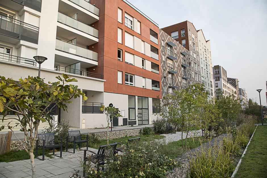 Logements sociaux du quartier Bossut à Cergy-Pontoise