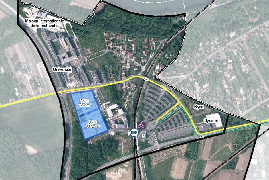 carte d'implantation du programme immobilier Spirit à Neuville