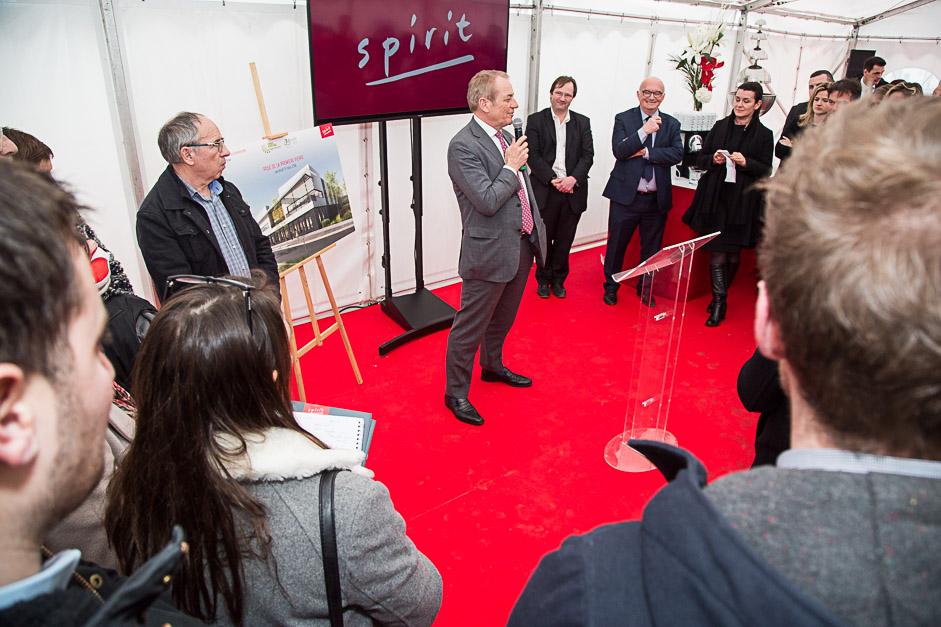 Image de l'inauguration du programme spirit ici Dominique Lefebvre