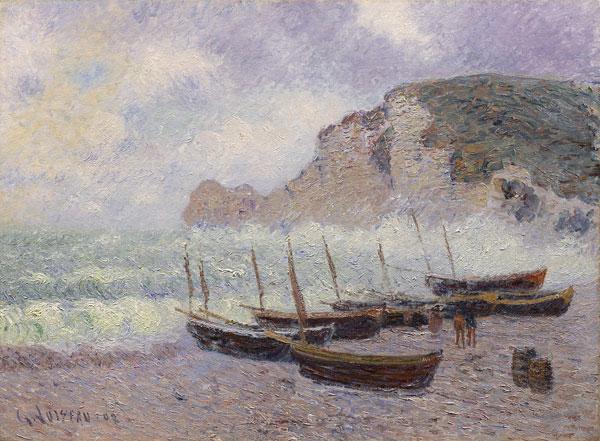 Gustave Loiseau Étretat Barques