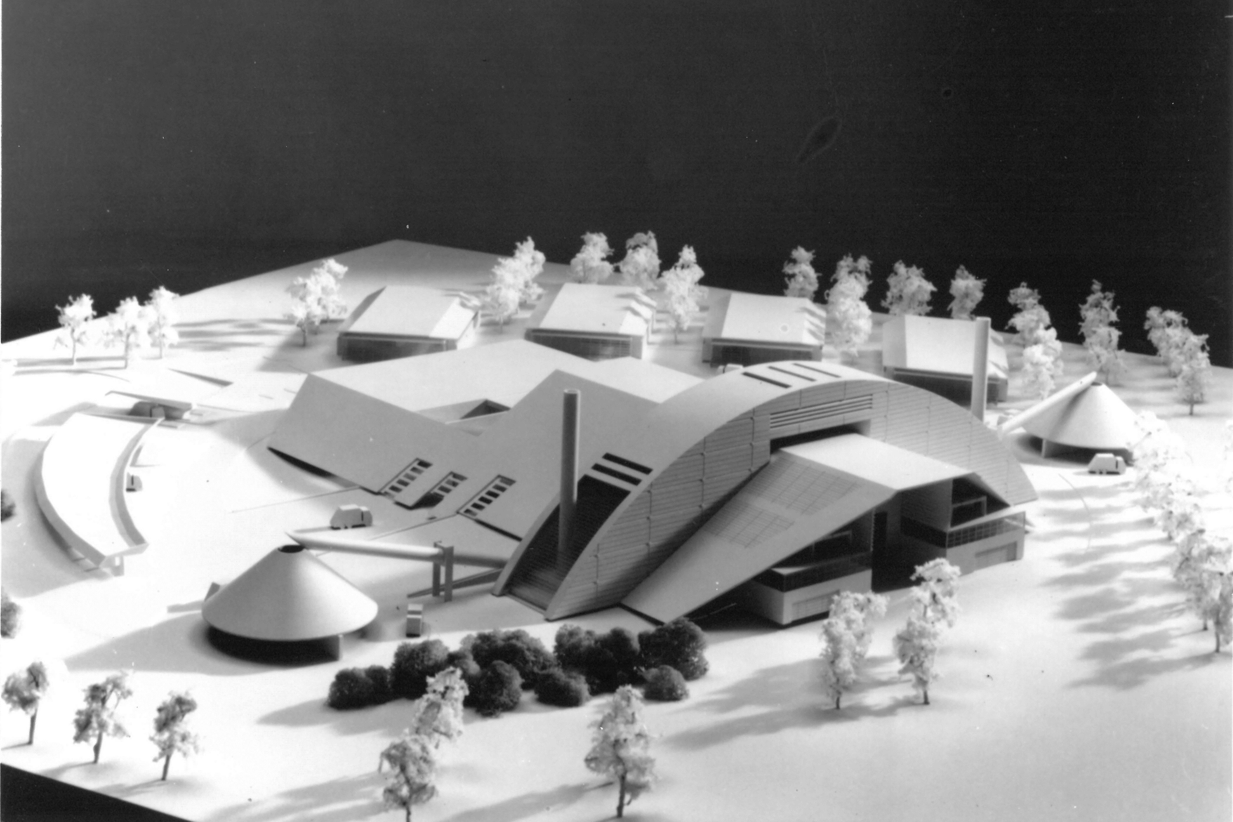 La maquette du centre Auror'environnement à Cergy-Pontoise