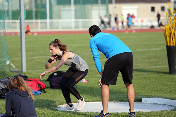 entraînement, athlétisme, EACPA, Cergy-pontoise, poids
