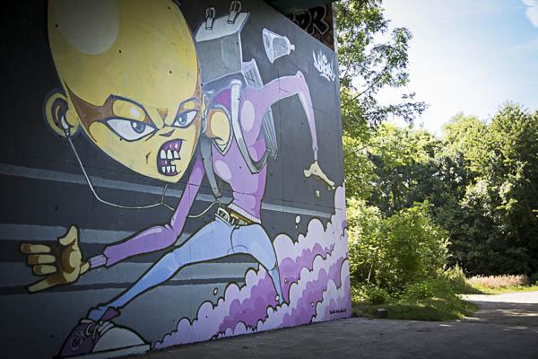 fresque sous pont