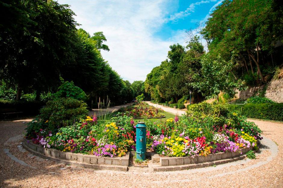 Le jardin de la ville à Pontoise