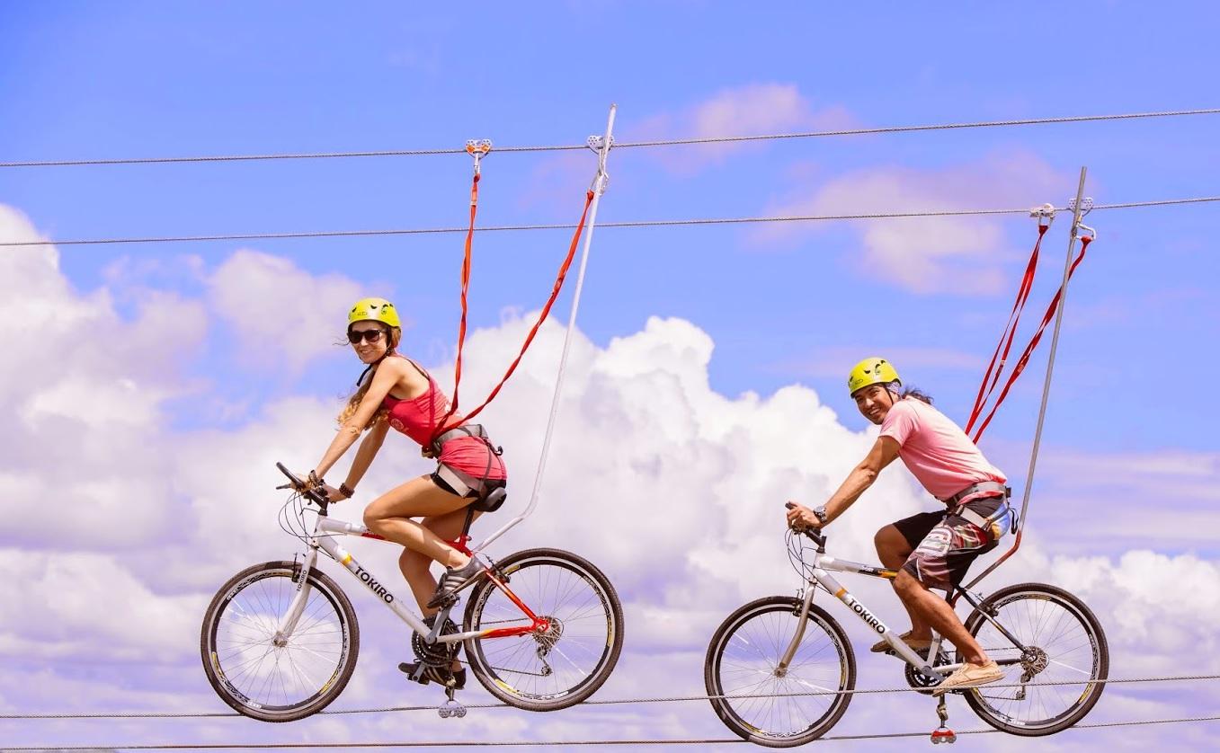 Le zippy bike à l'ile de loisirs de Cergy-Pontoise