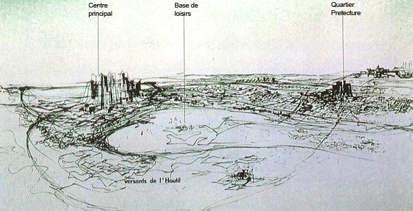 Cergy-Pontoise Urbanisation de la boucle de l'Oise