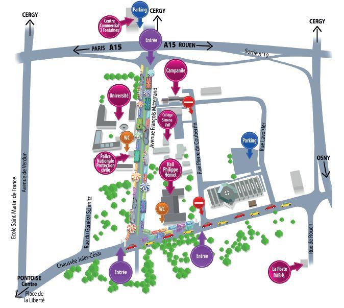 Plan de la Foire Saint Martin 2019 à Pontoise