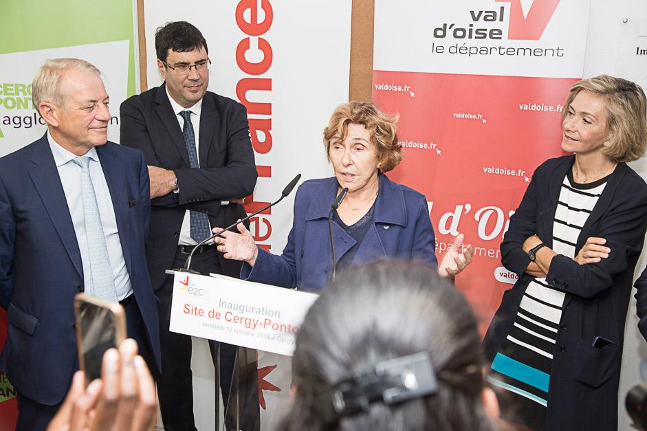 Inauguration de l'école de la 2ème chance à Cergy-Pontoise