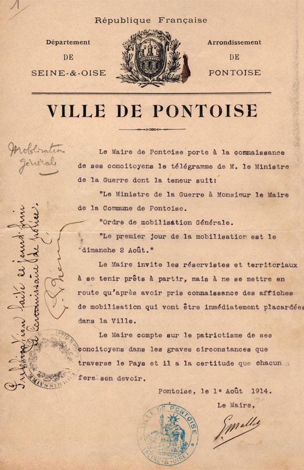 Pontoise 1914 1918