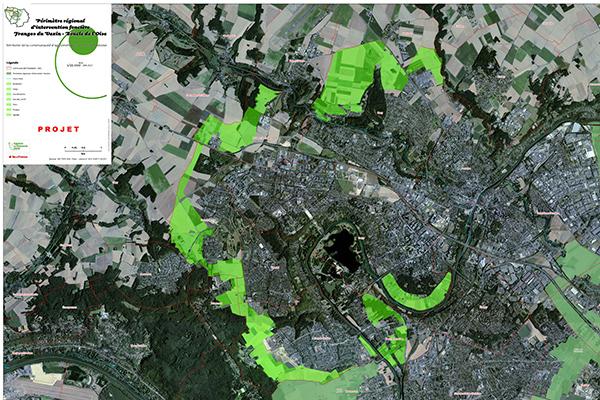 Carte du PRIF de Cergy-Pontoise