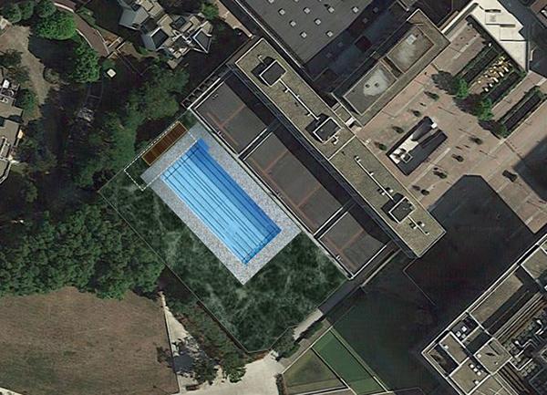 piscine extérieure, projet, parvis, cergy-pontoise, cergy