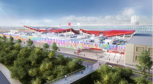 vue du futur centre rénové