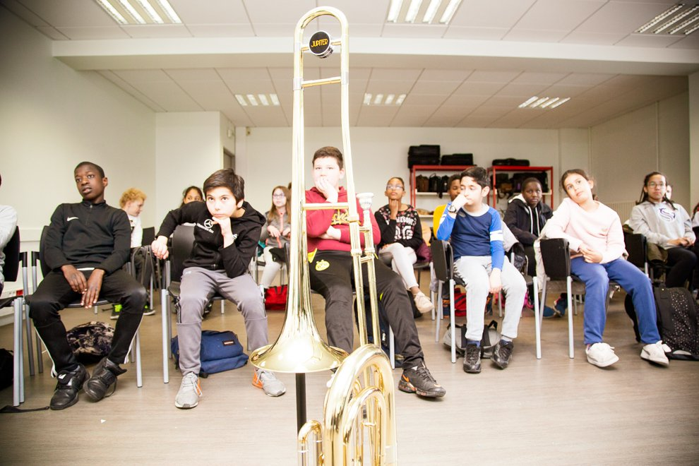 Au cœur d'une classe orchestre à Eragny - © CACP LD