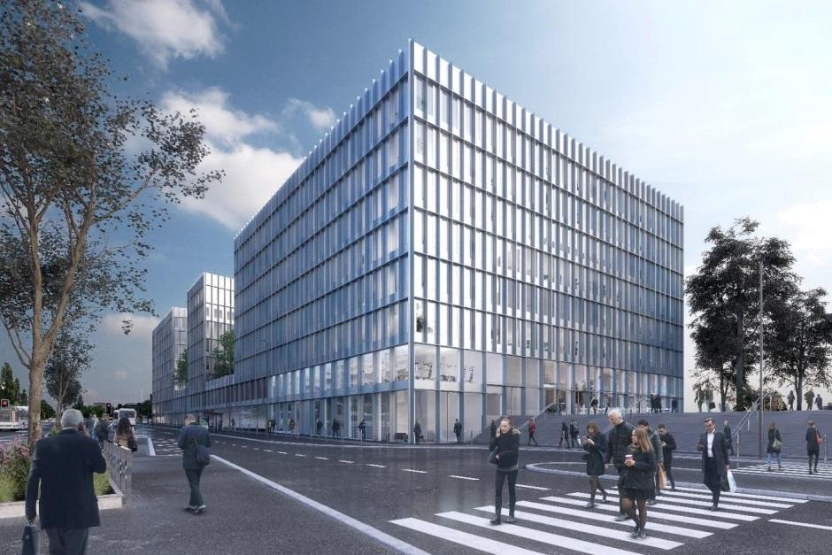 perspective du futur immeuble de bureaux