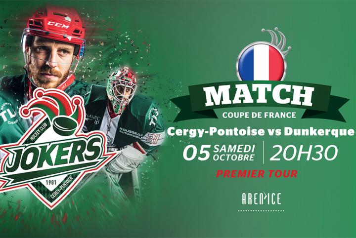 match de coupe de france jokers vs Dunkerque samedi 5 octobre