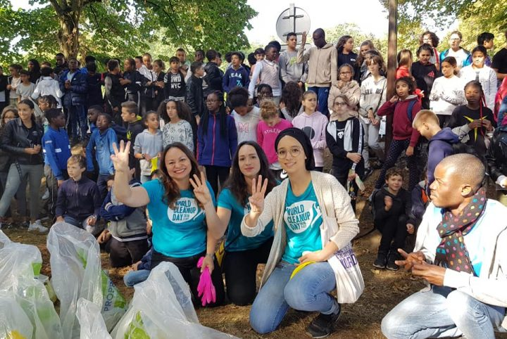 L'équipe du World Clean Up Day l'an dernier à Cergy