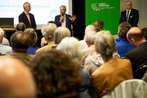 Réunion de présentation de la nouvelle délégation de service public du chauffage urbain de Cergy-Pontoise le 23 septembre dernier à l'hôtel d'agglomération.