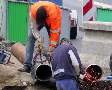 Chantier de réparation sur le réseau de chaleur de Cergy-Pontoise