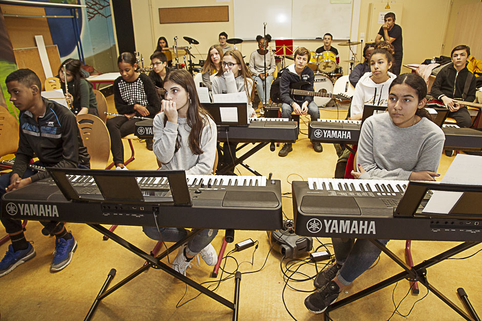 Classe orchestre au collège La Bruyère à Osny