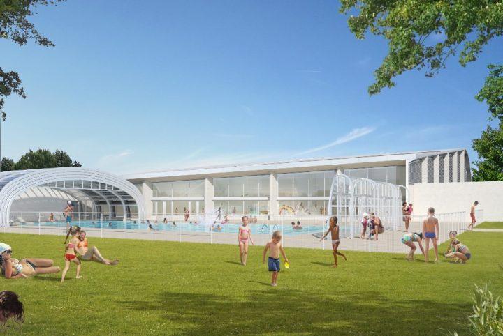 Perspective de la piscine des Louvrais rénovée