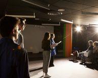 Les étudiants du Conservatoire sur la scène de la Maison des Arts lors de son ouverture le 3 décembre dernier.