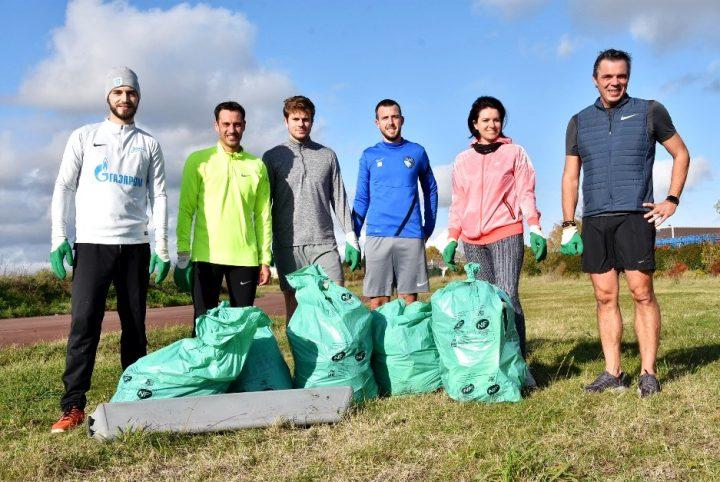 Le plogging par les salariés de Nike à Saint-Ouen l'Aumône