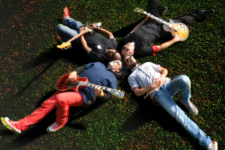 Les 4 musiciens du groupe Stefan 4