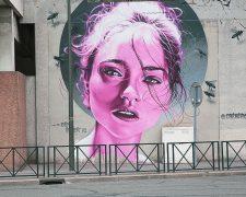 Street art Aéro Belle femme