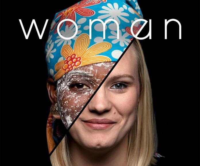 Affiche du documentaire de Yann Arthus-Bertrand et Anastasia Mikova, Woman.