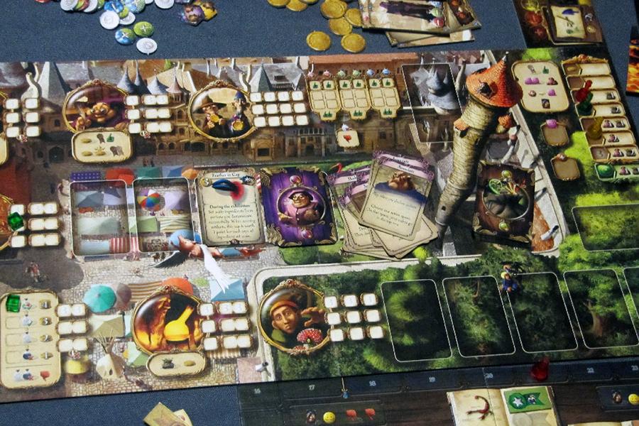 Plateau de jeu du jeu de société Alchimists