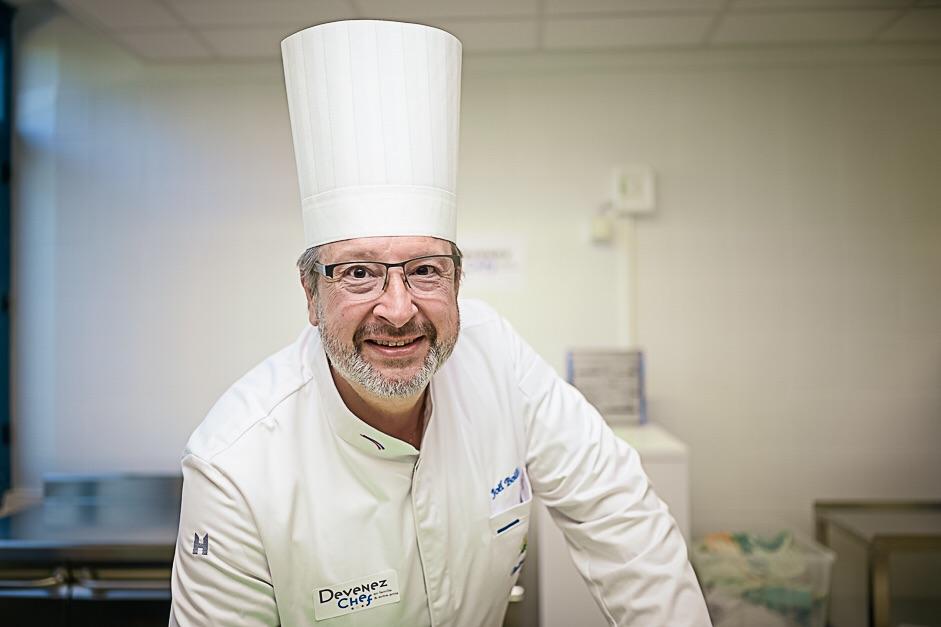 L'équipe de Devenez Chef. Joël Boilleaut