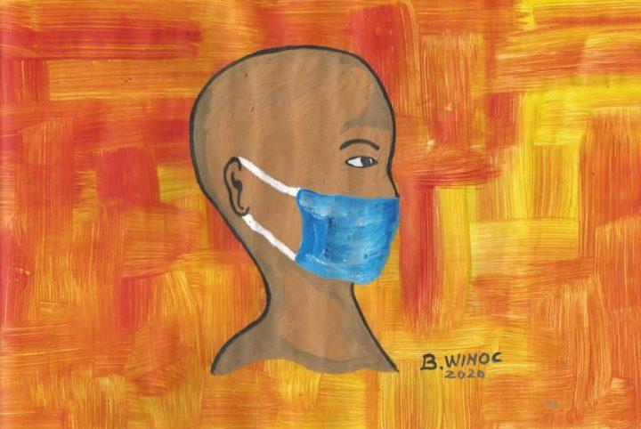 Le port du masque par l'artiste Winoc