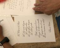 Texte calligraphié