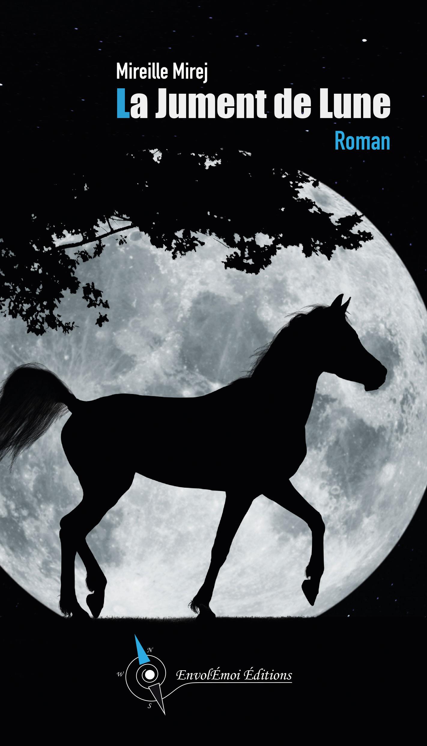 Couverture roman La Jument de Lune de Mireille Mirej