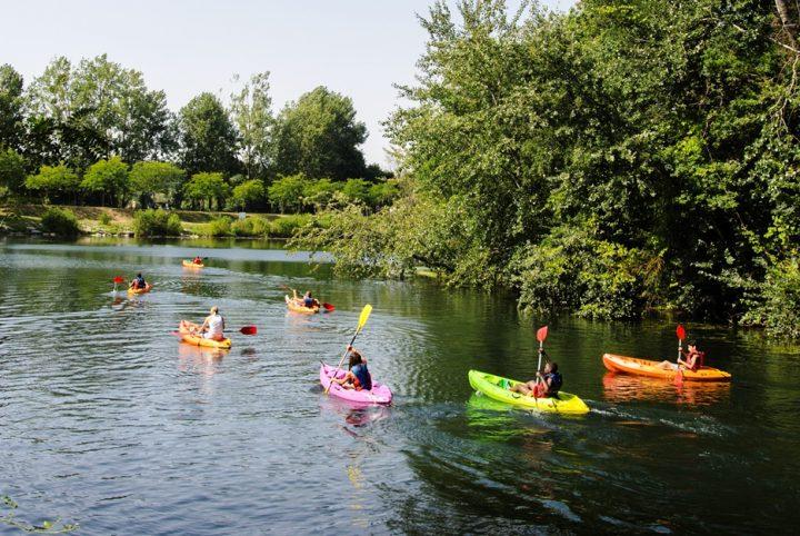 Canoë à l'île de loisirs de Cergy-Pontoise