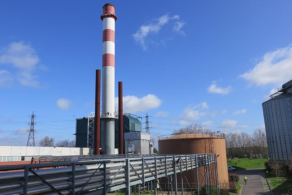 Cheminée chaufferie charbon Cergy-Pontoise