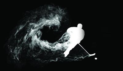 Silhouette hockeyeur